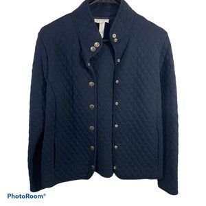 Charter Club Collared Quilted Button Coat